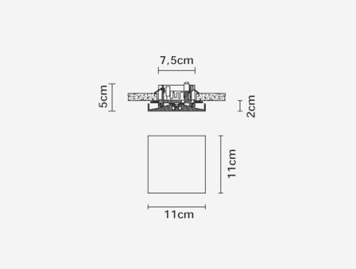 Fabbian++Light+Panel+F01+F01F0100+%2C+%D0%92%D1%81%D1%82.+%D1%81%D0%B2%D0%B5%D1%82%D0%B8%D0%BB%D1%8C%D0%BD%D0%B8%D0%BA+11%2A11cm+LED+500mA+1x8%2C5W+WHITE+3000K - фото 2