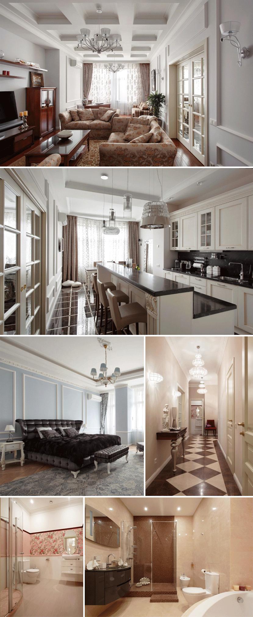 Совместный проект White & Black Design Studio и Студии светодизайна D`Luce, частная квартира в г. Москва.